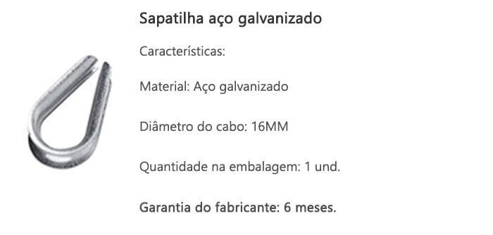 sapatilha-aco-galvanizado-16mm