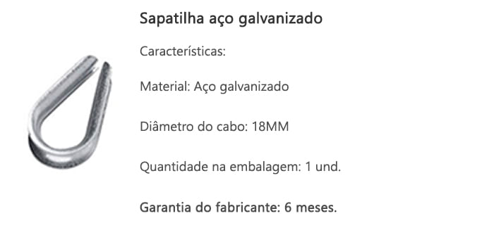 sapatilha-aco-galvanizado-18mm