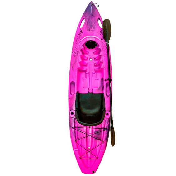 Caiaque-HUNTER-FISHING-UP-Brudden-Completo-Pink-|-Preto
