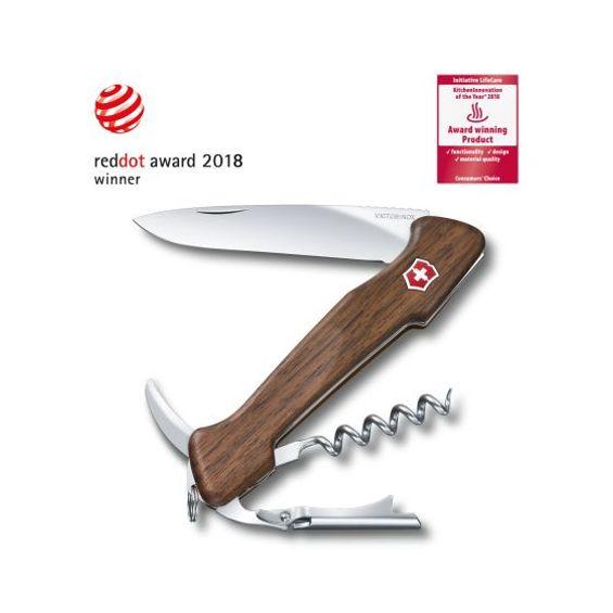 Canivete-Wine-Master-130mm-Madeira-Nogueira-Clara-Com-Estojo-De-Couro-Victorinox