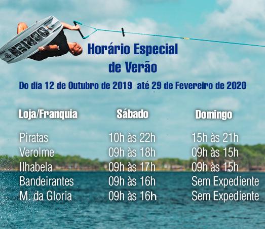 Banner Horario Verao