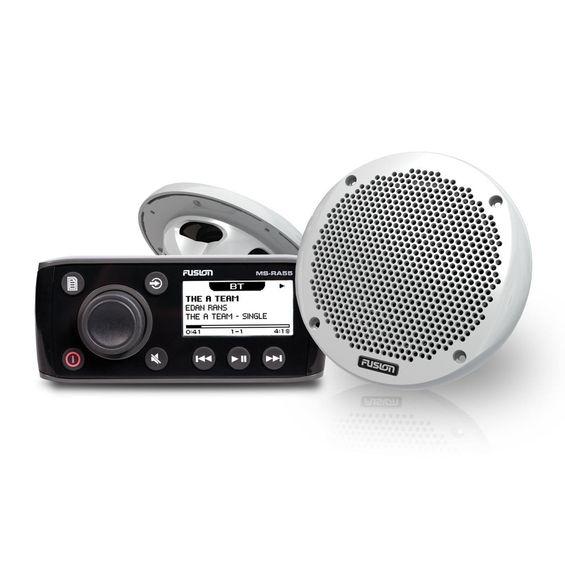 """Combo-Stereo-Maritimo-Compacto-Fusion-MS-RA55-com-Transmissao-de-Audio-Bluetooth-e-Alto-–-Falantes-Fusion-MS-EL602-de-2-vias-6""""-150-Watts-Imagem01"""